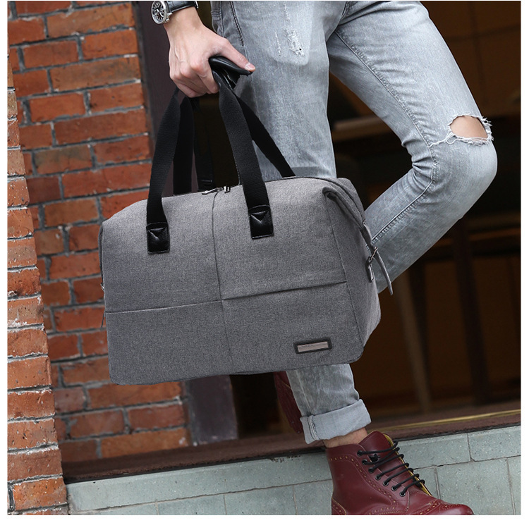 Canvas Fashion Casual Sports Gym Bag Men's Waterproof Open Country Travel Multi-functional Outdoor Handbag European And American