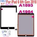 Для iPad 6 6-го поколения 2018 A1893 A1954 сенсорный экран дигитайзер панель для ipad Pro 9,7 2018 A1893 A1954 сенсорный с кнопкой Home