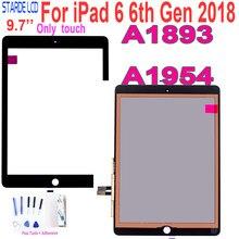 Para ipad 6 6th gen 2018 a1893 a1954 painel digitador da tela de toque para ipad pro 9.7 2018 a1893 a1954 toque com botão casa