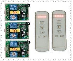 Image 3 - 220V motor garaj kapısı/projeksiyon ekranı/kepenkler AC220V dijital ekran akıllı RF kablosuz uzaktan kumanda anahtarı