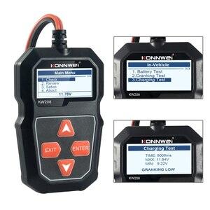 Image 5 - جهاز اختبار بطارية السيارة KW208 ، محلل الشحن ، 12V 100 2000CCA ، X6HF