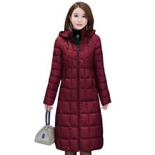 2020 새로운 겨울 자 켓 여성 플러스 크기 4XL 캐주얼 후드 따뜻한 코 튼 패딩 코트 여성 긴 자 켓 여성 파 카 겉옷