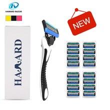 HAWARD Razor System Razor (1 Razor + 16 Cartridges 5-layer blades) Men's Manual Shaver Shaving Razor For Hair Removal