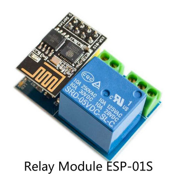 2021 ESP8266 ESP-01S Relay Module Relay WIFI Smart Socket Control Switch Phone APP Based On AI-Thinker ESP-01S WIFI Module image