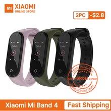 グローバルバージョン xiaomi mi バンド 4 スマートバンドフィットネストラッカー心拍追跡カラフルクリニーク表示インスタントメッセージ 135 mah
