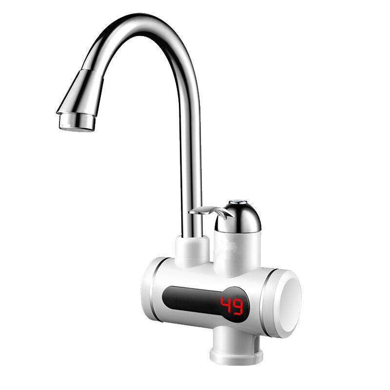 3000W Instantaneous Thermoelectric Induction Digital Display Water Heater Faucet Bottom Water Inlet 360 Degree Rotating Handle