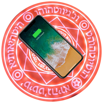 Magic Circle Wireless Charger Qi Wireless Fast Quick Charging Pad for iPhone X XS 8 Samsung Xiaomi Redmi Huawei Honor Phone