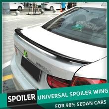 Universal Spoiler Wings 150CM Car Styling Carbon Printing Glossy Black White Red Paint Spoilers For BMW Toyota Honda Kia Hyundai