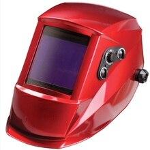 Auto darkening welding helmet/welding mask/MIG MAG TIG(original redstriae)/4 arc sensor