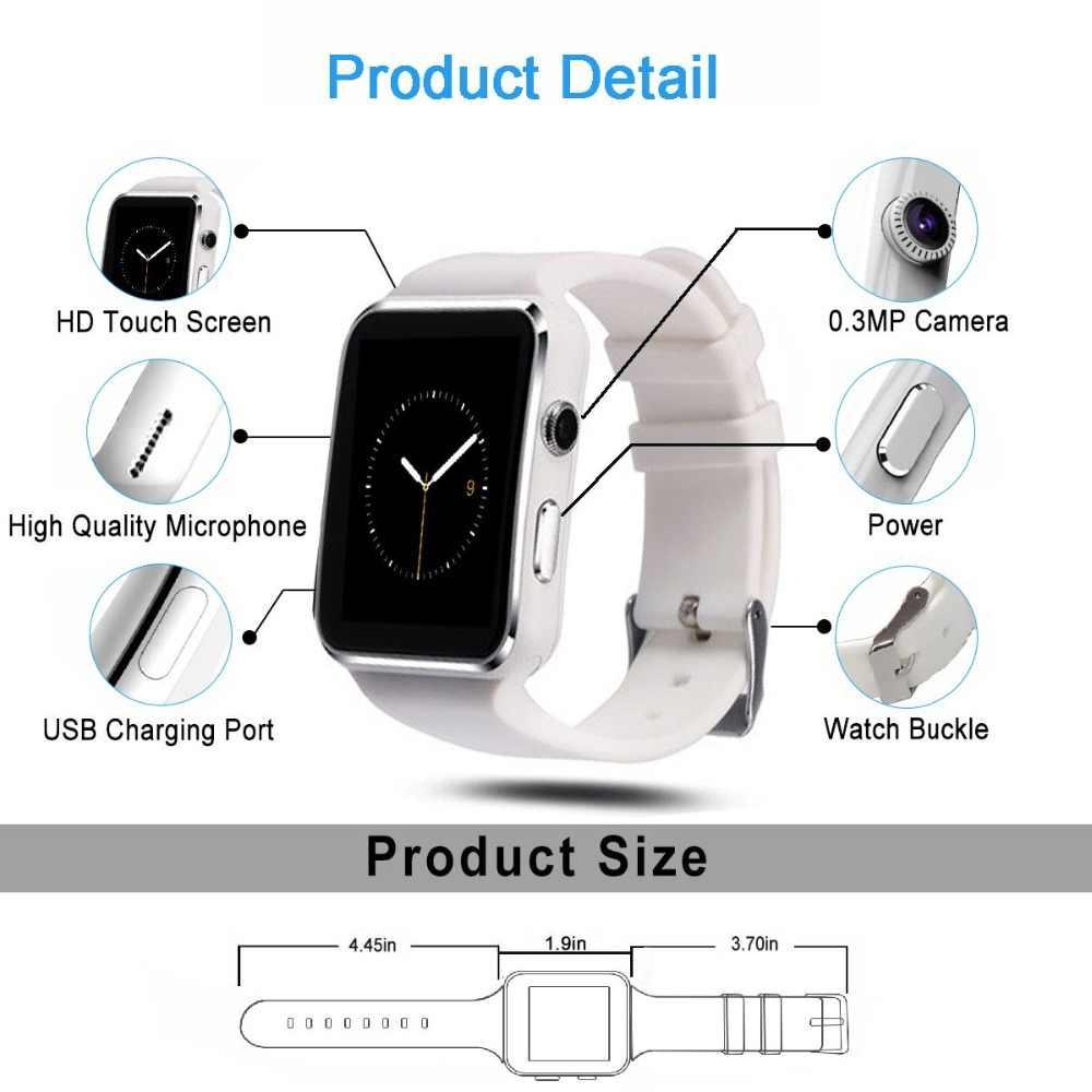 ساعة ذكية ساعة سيم دفع رسالة بلوتوث لالروبوت IOS reloj الرجال النساء الرياضة ساعة ذكية لهاتف آيفون Xiaomi هواوي سامسونج