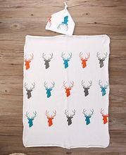 Stretch Cotton Deer Wrap Swaddle Animal Blanket Bath Towels Sleeping Blankets