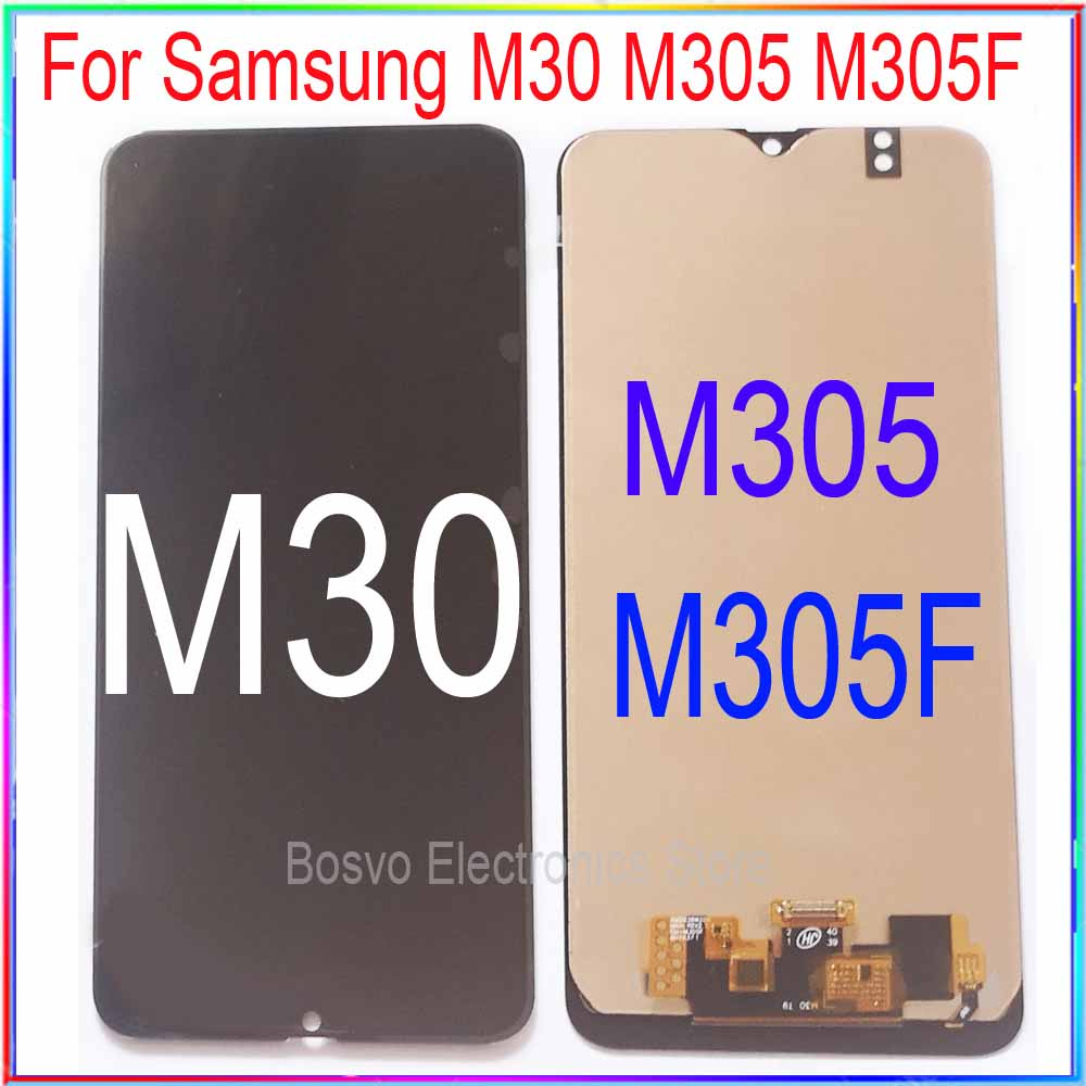 For Samsung M30 LCD Screen Display M305 M305F With Touch With Frame Assembly Replacement Repair Parts