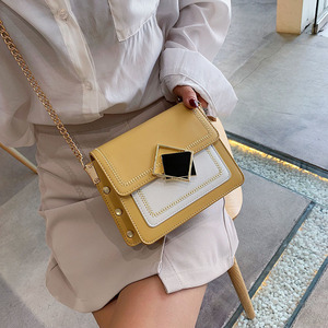 Image 5 - Chain Pu Leather Crossbody Bags For Women 2021 Small Shoulder Simple Bag Special Lock Design Female Travel Handbags