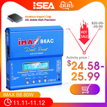 Htrc Imax B6 Ac Rc Lader 80W B6AC 6A Dual Channel Balans Lader Digitale Lcd scherm Li Ion Nimh Nicd lipo Batterijontlader