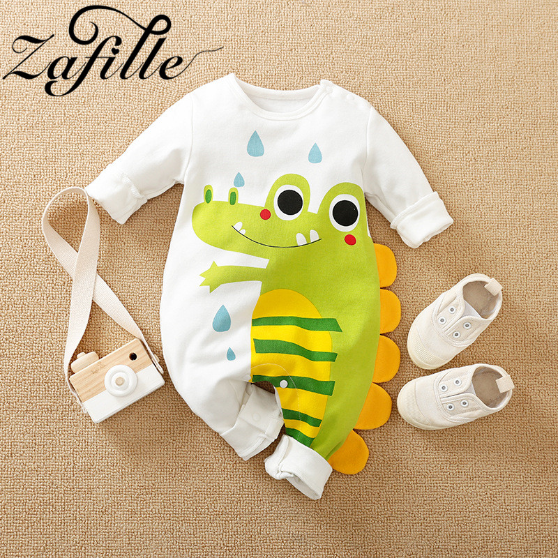 ZAFILLE Cute Baby Boy Clothes For Newborn Cartoon Dinosaur Baby's Rompers 2021 Baby Jumpsuit For Kids Baby Girl Clothes