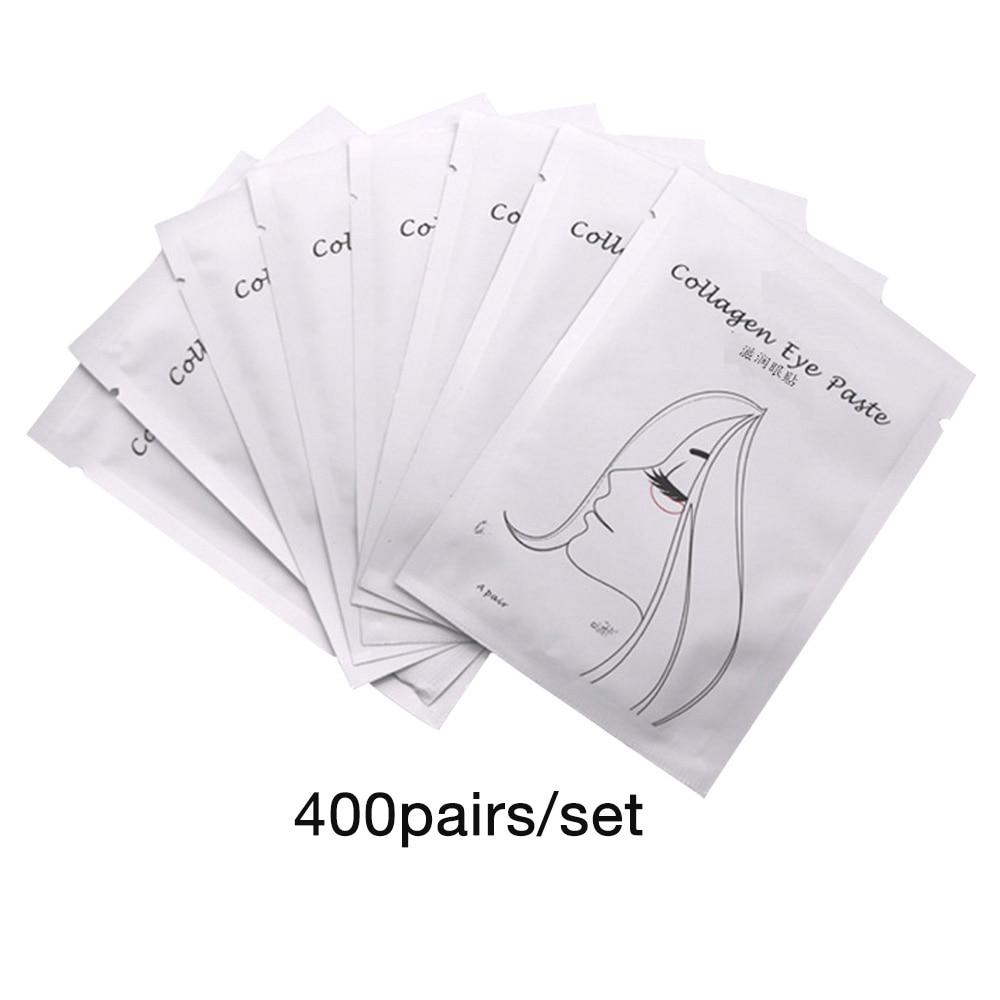 200/400 пар накладных ресниц, бумажные накладки, накладки под ресницы, принадлежности для наращивания ресниц, инструменты для макияжа, наклейки - Цвет: 400pairs White Girls