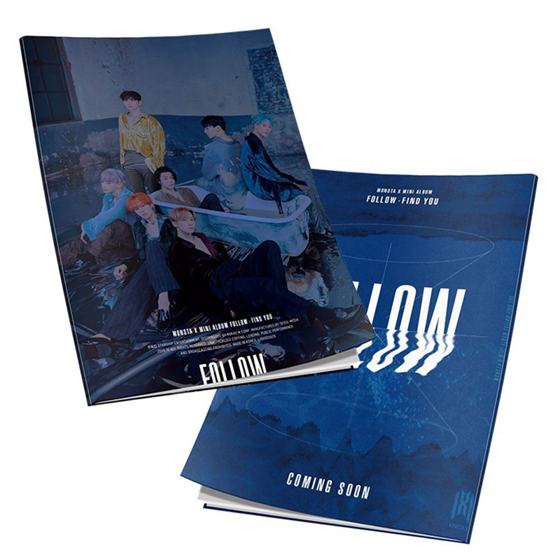 Kpop Monsta X FOLLOW-FIND YOU Mini Photo Book   Photography  New Album Poster Picture