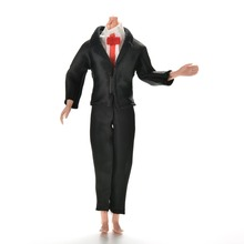1 Set High Quality Black Bride Suit For  Friend Ken Doll Clothes Accessories White Shirt And Pants With Coats Handmade