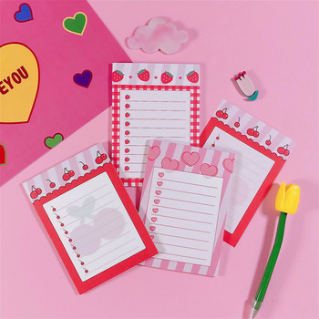 Memo Pad 30 pcs/ lot Cherry Memo Pad Kawaii Memo Note Lovely Cute Pink Note Pad Girls Stationery Office School Supply
