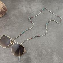 Boho Silver Beads Chain Sunglasses Chains Women Reading Glasses Cord Holder Neck Strap Rope for