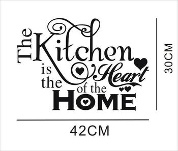 Kitchen Wall Stickers Vinyl Wall Decals for Kitchen English Quote Home Decor Art Decorative Stickers PVC Dining Room For Bar PVC 32
