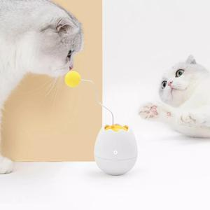 Image 2 - Youpin אלקטרוני תנועה חתול צעצוע אינטראקטיבי חתול טיזר כיף בצורת צעצועי רפרוף מסתובב אינטראקטיבי פאזל חיות מחמד