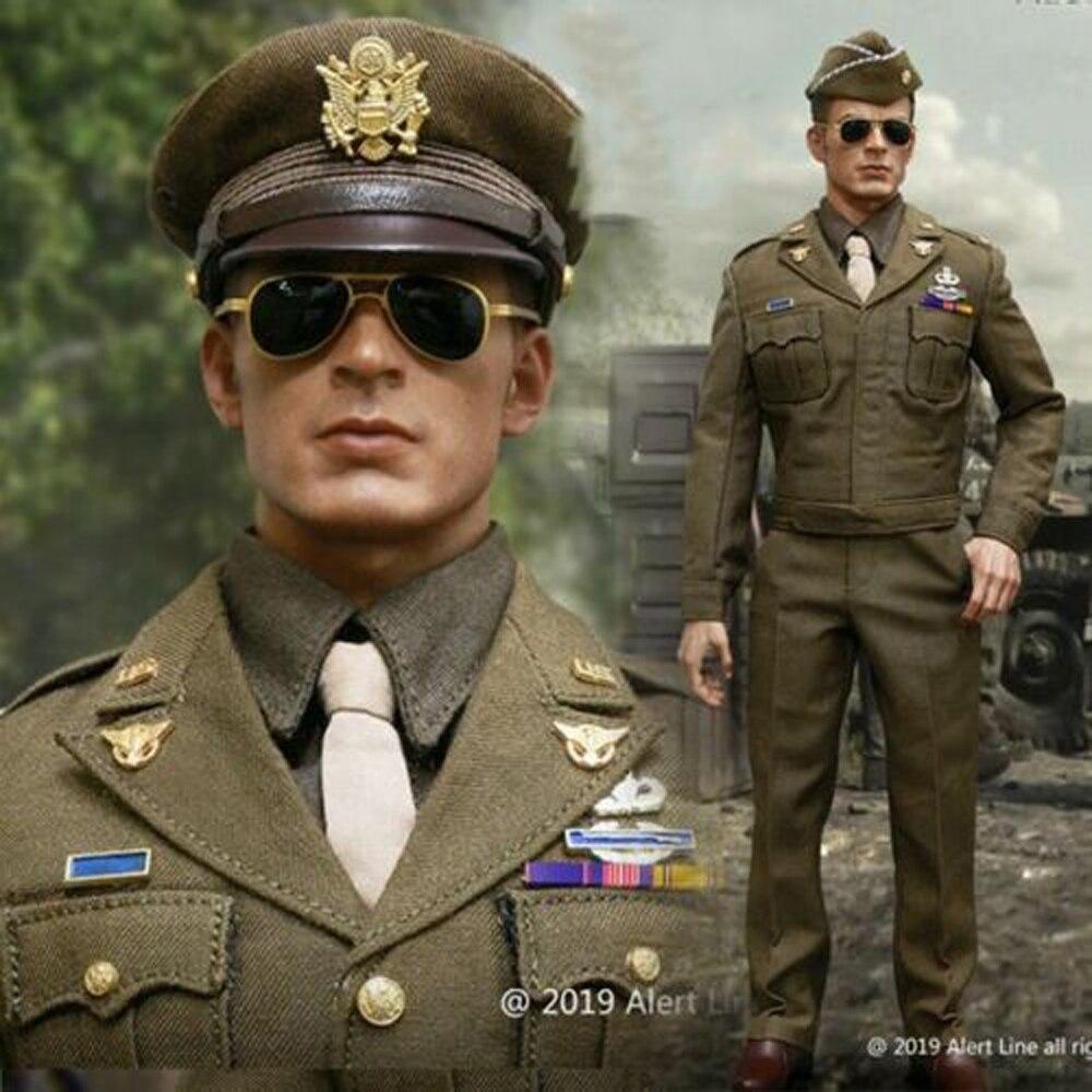 Alert Line AL100028A/B 1/6 Captain America WWII Army Officer Uniform Soldier Figure Clothes