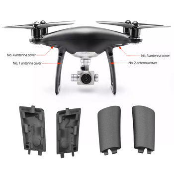 Landing Gear Antenna Cover Replacement for DJI Phantom 4 Pro Obsidian Brand New Legs Cover Cap Repair Parts Accessories image