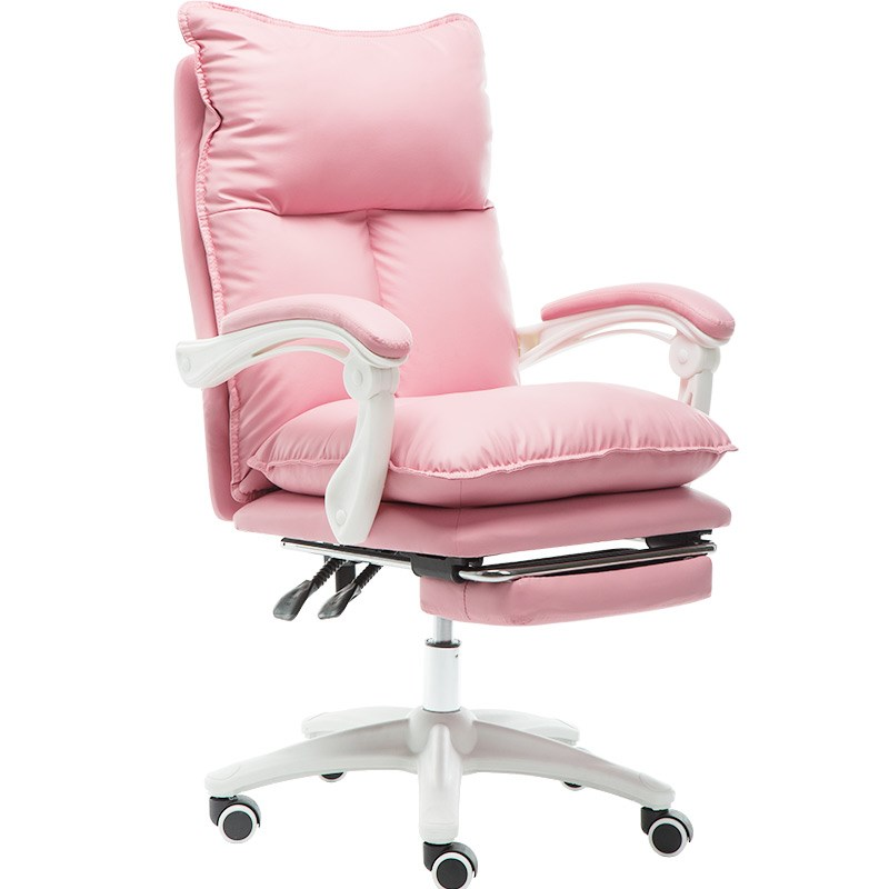 Computer Chair Comfortable Sedentary Home E-sports Chair Anchor Girl Cute Girl Heart Boss Office Chair