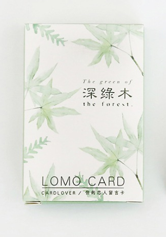 L8- Green Tree Paper Greeting Card Lomo Card(1pack=28pieces)