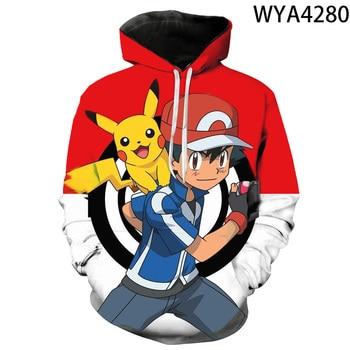 2020 new animated 3D printed hoodies men women children fashion hoodies pokemon boys girls kids sweatshirts street clothing