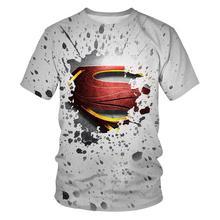 Superhero Batman/Superman Logo 3D Print Fashion T-shirt Short sleeve Summer New Hot 3D Print Men and women Crew Neck Top T-shirt