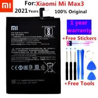 100% del Rimontaggio originale Della Batteria Per Xiaomi Mi Max3 Max 3 BM51 Genuino Batteria Del Telefono 5500mAh + Strumenti Gratuiti + adesivi gratuiti