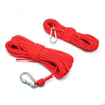 Nowy magnes wędkarski 20 10 metrów lina nylonowa pleciona lina ciężka lina z mechanizm blokady średnica 6Mm bezpieczna i trwała tanie i dobre opinie CN (pochodzenie) NONE permanentny Rope