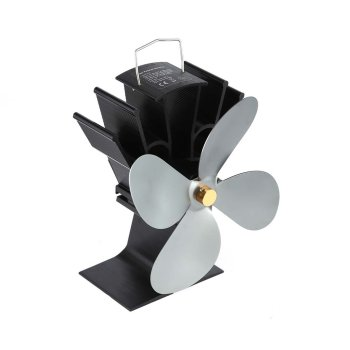 4 Blades Heat Powered Stove Fan Home Silent Heat Powered Stove Fan Ultra Quiet Self-powered Wood Stove Fireplace Cooling Fan [2 years warranty ] galafire large airflow 4 blade heat powered stove fan wood burning stove fan stove thermometer