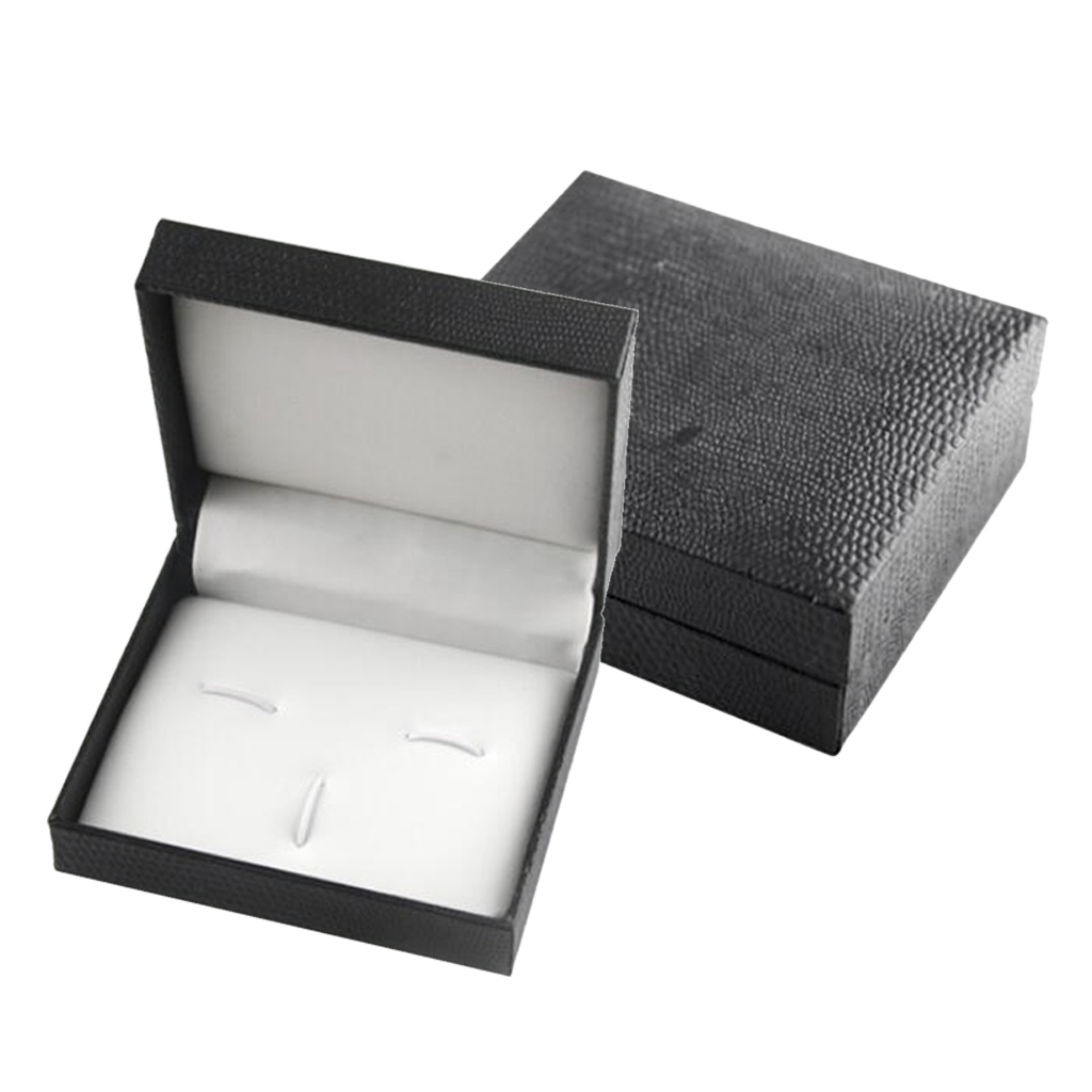Luxury Cufflink Cuff Link Neck Tie Storage Box Mens Wedding 7x8x3cm Mini Travel Mens Jewelry Display