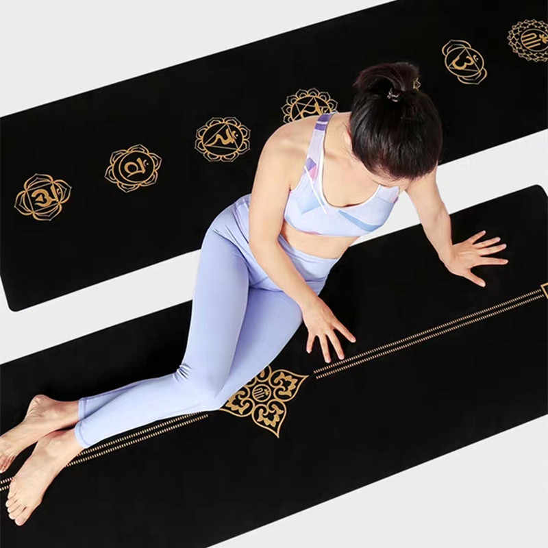 Black Gold Yoga Mat Natural Rubber 1 5mm Suede Body Building Fitness Exercise Workout Mattres Non Slip Yoga Blanket Yoga Mats Aliexpress
