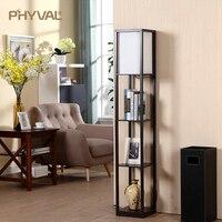 Lâmpada de assoalho moderna decorativa de armazenamento de 4 andares lâmpada de assoalho preto branco família sala de estar quarto padrão lâmpada com zíper interruptor e27