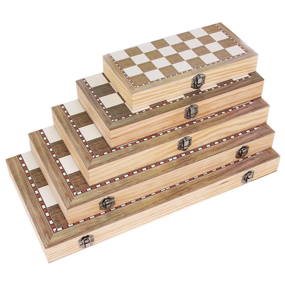 3 In 1 Foldable Wooden Chess Board Set Travel Games Chess Backgammon Checkers Toy Chessmen Entertainment Game Board Toys Gift
