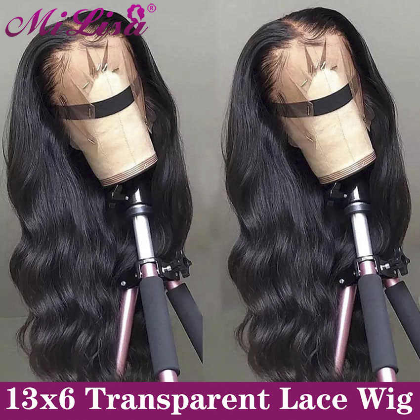 Body Wave 13x6 Lace Front Human Hair Wigs Pre Plucked Remy Mi Lisa Brazilian Wig Long Body Wave Human Hair 13x4 Lace Frontal Wig