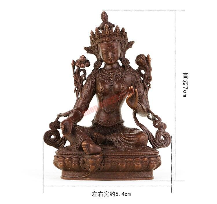 Verde de cobre puro tara, estátua de