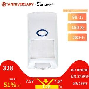 SONOFF пир2 RF PIR датчик движения Детектор 433 МГц Wi-Fi беспроводной пульт дистанционного доступа сигнализация охранная система Противоугонная ум...