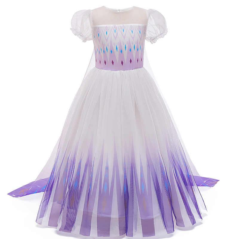 Noel hediyesi kız elbise Cosplay kostüm partisi anna elsa elbise rüya prenses elbise 2020 yeni yıl kız elbise 3-10 yaşında
