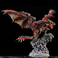 Animal Models PVC FANTHFUL CFB Hunter Male Fire Dragon Hand made Model Statue Game Peripheral model Home display gift collection