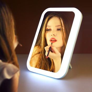 Led Makeup Mirror with Light Fill Mirror M006 Light Up Mirror for Makeup Desktop Cosmetic Mirror USB Charging Dormitory Vanity rechargeable motion sensor light mirror led makeup mirror rotation infrared induction makeup mirror battery operated or usb ca