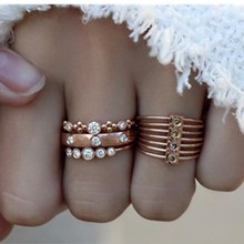 Vintage Gold Crystal Rings Set Beads Ring For Women Metal Charm Ring Bohemian Wedding Fashion Jewelry Party Gifts re bohemian 8pcs sets vintage gold color rings metal charm fashion rings women jewelry ring set party weeding gifts accessories