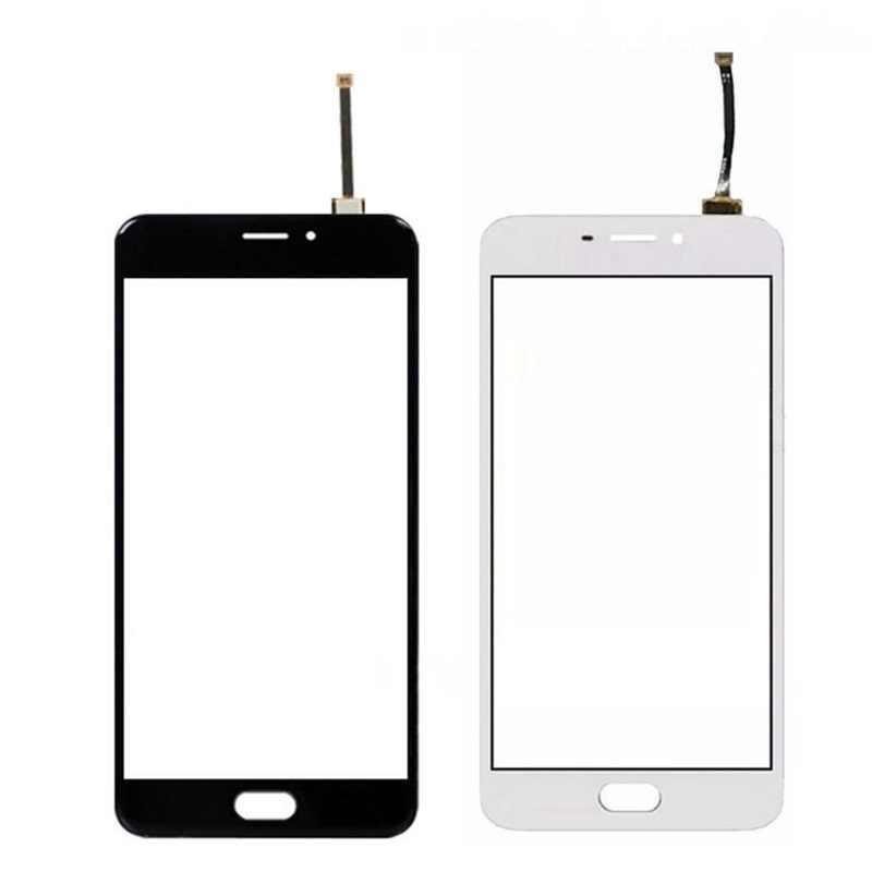 شاشة تعمل باللمس ل Meizu M5 ملاحظة لمس لوحة محول الأرقام الاستشعار 5.5 ''شاشة الكريستال السائل الزجاج الأمامي الهاتف قطع الغيار