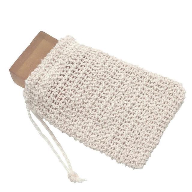 10Pcs/set Exfoliating Soap Bag Cleansers Natural Portable Soap Saver Soft Foaming Massage Bag Cotton Soap Saver Pouch Holder 3