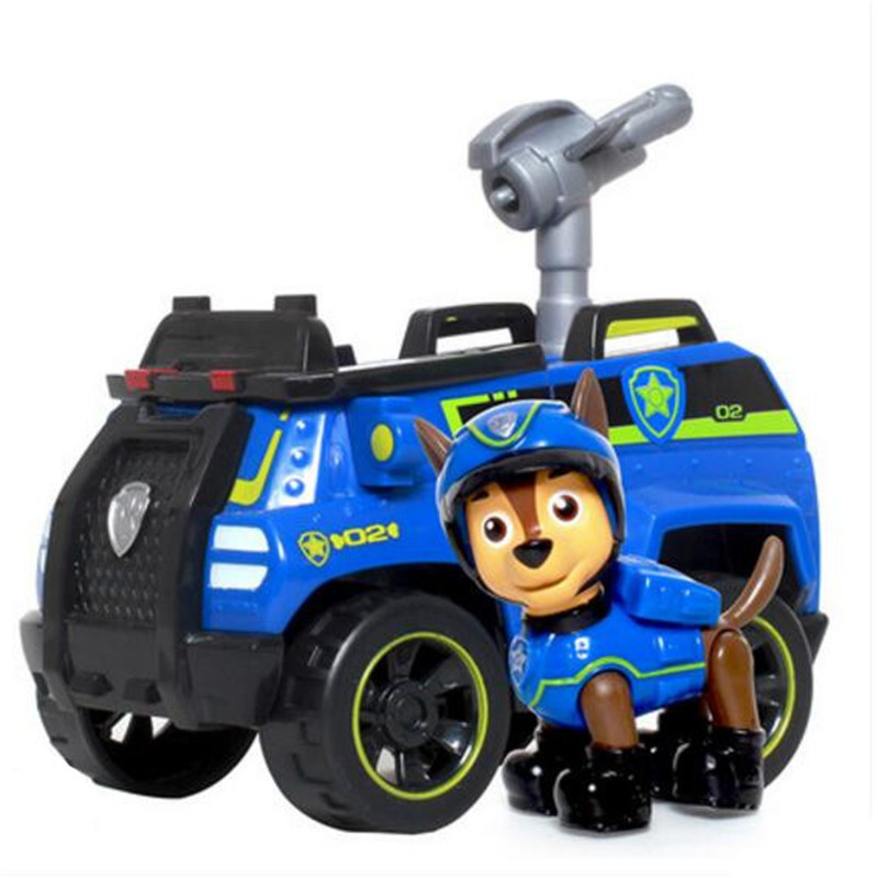 С принтом из мультфильма «Щенячий патруль набор игрушек для Everest трекер фигурку собаки из мультфильма «Щенячий патруль» для дня рождения с рисунком из аниме Рисунок патруль Paw patrulla canina, игрушка в подарок - Цвет: chase