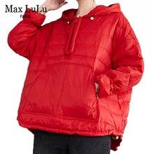 Max LuLu Eurpoean Winter Fashion Designer Womens Casual Loose Padded Hooded Hoodies Ladeis Vintage Qulited Sweatshirts Plus Size